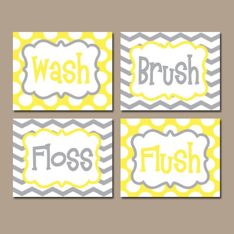 Kid Bathroom Rules Canvas Or Prints Boy Girl Brothers By Trmdesign