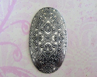 NEW Large Oval Silver Medallion Finding 3587