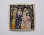 a patchwork of stories - an original embroidery artwork