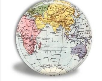 World Map Pocket Mirror, World Pocket Mirror
