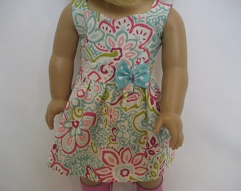 18 Inch Doll Clothes - Springy Floral Dress