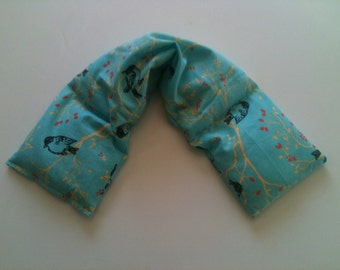 Heat Pack or Cold Therapy Wrap/ Neck Shoulder/ Flax Seed,Mint, Lavender - Birdie Branches