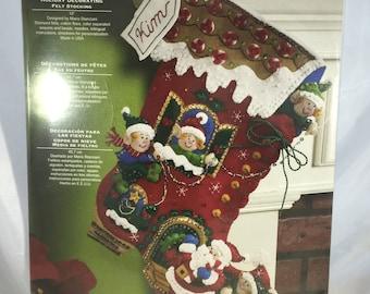 Bucilla Felt Christmas Stocking Kit - Holiday Decorating - New Unopened Package