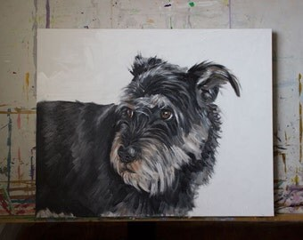"Pet Portrait - 24""x30"" Painting on Gallery Wrapped Canvas"