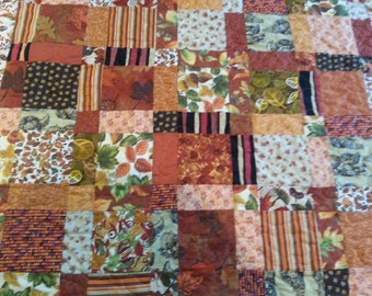 REDUCED PRICE fall quilt