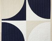 Modern Quilt - Baby Quilt - Navy POP