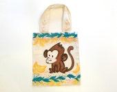 Monkey Jungle Tote - One of a Kind book bag