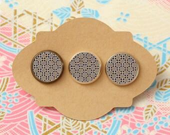 10 pcs handmade navy blue - earrings, pendant, ring - 12mm (PW-0852B)