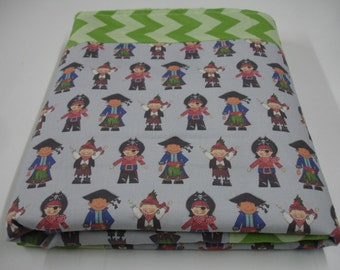 Little Pirates Minky Blanket 34 x 41 READY TO SHIP On Sale