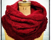 Knitting Pattern Cowl Scarf Convertible Instant PDF Download Easy Quick Knit Pattern Gift Idea