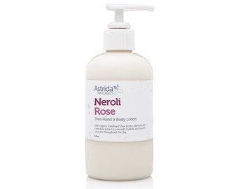 Neroli Rose Shea Hand and Body Lotion with Organic Shea Butter