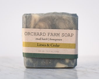 Litsea Cedar// Natural Soap// Orchard Farm Soap