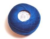 Lizbeth Size 20 Cotton Crochet Tatting Thread Dark Wedgewood Color number 656, Blue Thread
