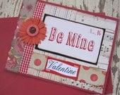 Valentine Card, Handmade Valentine, Valentines Day, Primitive Valentine, Be Mine, Love, Red, Valentine, Flower, Handmade Card, ofg team