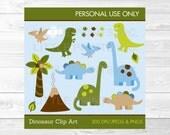Cute Dinosaur Clipart / D...