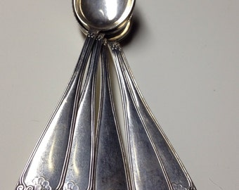 Five Matching Silver Coffee Spoons 830 S Norway Demitasse Set