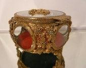 Vintage Gold Ormolu Jewelry Box Casket