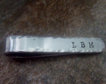 Personalized Tie Bar, Hand Stamped Tie Clip, Custom Tie Tack, Custom Tie Bar, Personalized Tie Tack, Personalized Gift for Him, Groomsmen