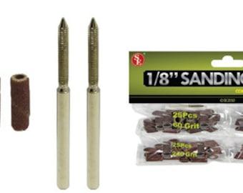 """Sanding Drum Kit - 1/8"""" X 1/2"""" Mandrels"""