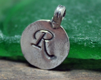 Letter  Stamped Charms  Blanks Sterling