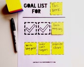 Rotating Goal Chart PRINTABLE PDF, Goal Planner, Goal Setting, Goal Tracker, Digital Download