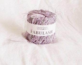 Eyelash, Fabulash 112, novelty yarn,  Cascade Yarn, violet black white, C, destash