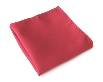 Pocket Square Solid Red Hankie