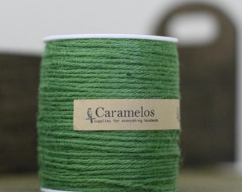100 yds of Natural Moss Green Jute Twine Cord