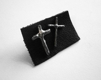 get 50% off - 25 dollars only - enter coupon code PHOENIXSALE at checkout to obtain the reduction - CROSS II earrings -sterling silver-