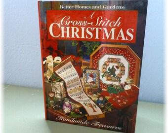 Cross Stitch Christmas Better Homes & Gardens Patterns Book Hardcover Handmade Treasures
