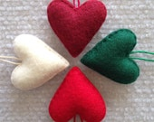 Christmas heart ornament set