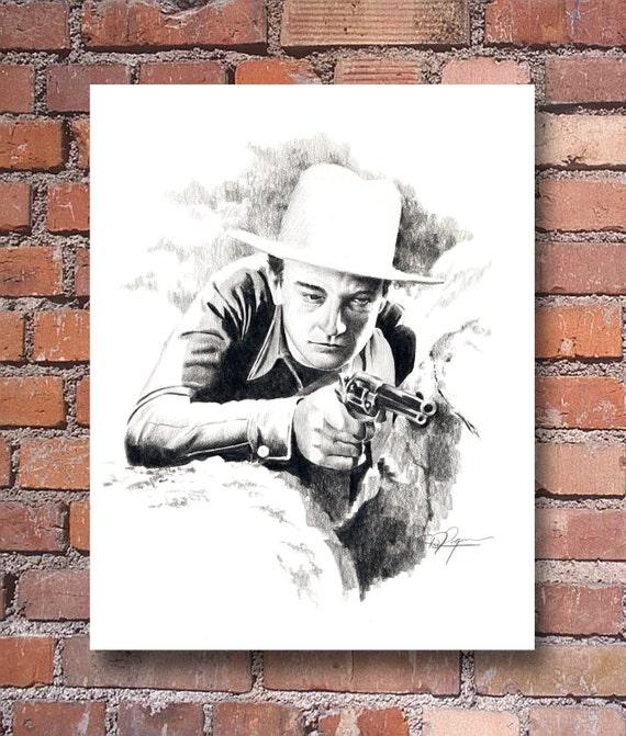 John Wayne The Big Stampede The Duke Portrait