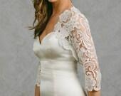 Amelia | Plus Size Lace Bridal Bolero