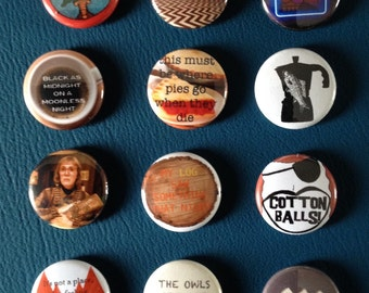 """twin peaks 1"""" buttons"""