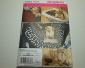 Simplicity Dog Bed Pattern with Heart Toys Uncut but Toy Bone Pieces Missing