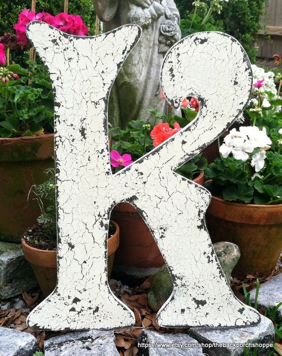GUEST BOOK or Home Decor, Letter K, Wood WEDDING Sign, 24 inches tall, Guest Book Alternative