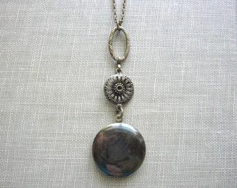 Dark Patina Locket, Vintage Locket, Vintage Inspired, Round Locket, Locket Necklace, Brass, Photo Locket, Memories, For Her, Days Long Gone