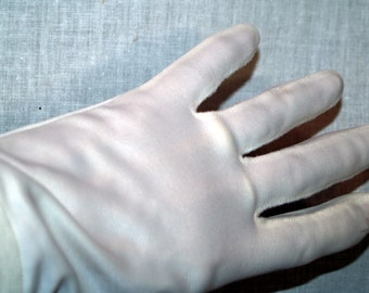 White nylon gloves vintage
