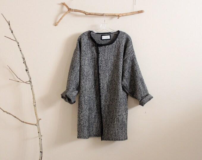 Tweed wool linen jacket ready to wear