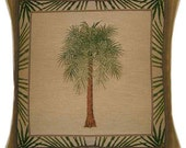 Palm Tree Design No 1 Tapestry Cushion Cover Sham