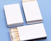 150 Plain White Matchboxes