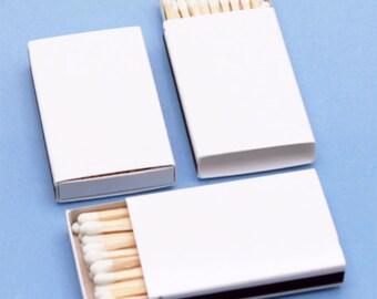 25 Plain White Matchboxes