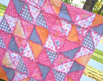 Rag Quilt Pattern - Triangle Dash With Car Seat Tent Instructions - Triangle Rag Quilt Pattern - HST Rag Quilt Pattern - HST Quilt Pattern