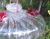 Swirl Hummingbird Feeder // Nature Gifts // Bird Gifts // Hand Blown Glass Bird Feeder
