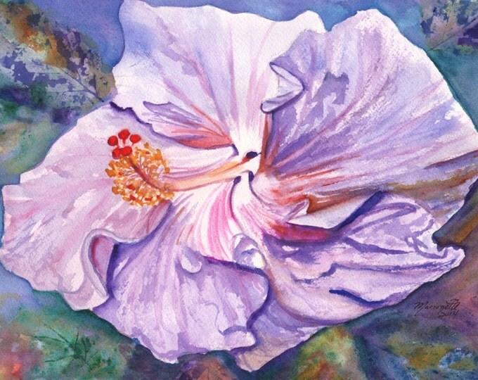 Hibiscus watercolors, Original Watercolor Paintings,  Kauai Hawaii, Hawaiian wall art,  tropical flower art, kauaiartist, hawaii hibiscus