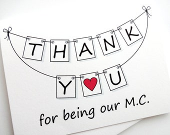 Wedding M.C. Thank You Card