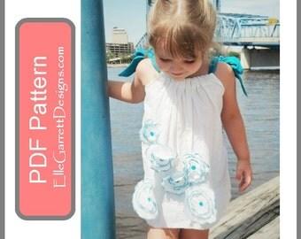 PDF Pattern - Poppy PillowCase Dress size 6 months - girls 12