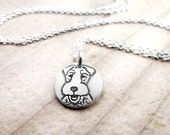 Tiny Wire Fox Terrier necklace, silver dog necklace, Wire Fox Terrier remembrance jewelry