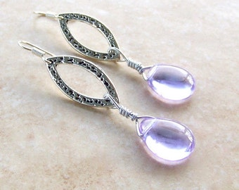 Enchanted Awakenings Purple Teardrop Earrings