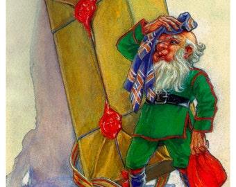 Adorable Elf Holiday Card